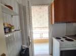 kitchen to the balcony door